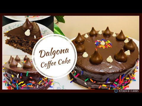 Trendy Dalgona Coffee Cake with Chocolate Ganache | How to make Eggless Coffee Cake without Oven |