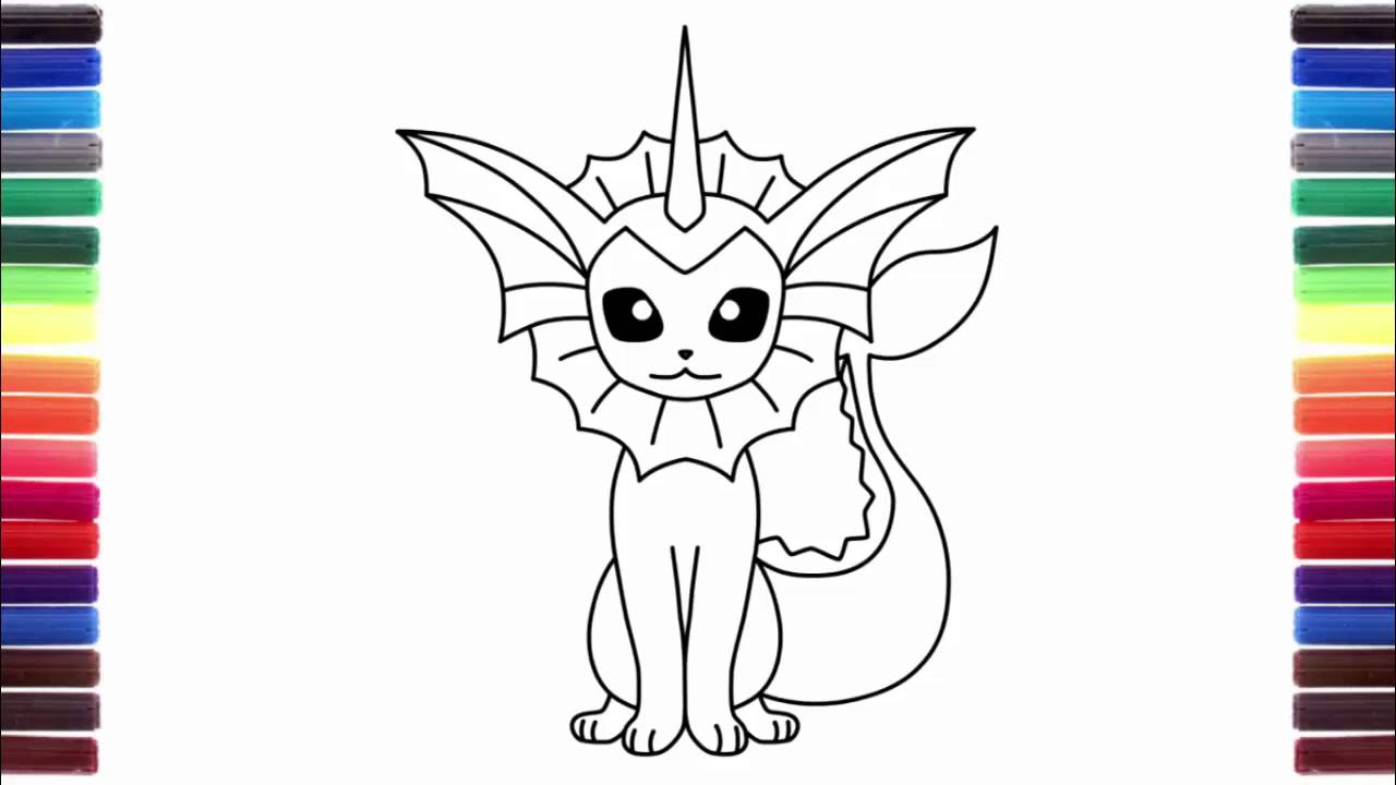 Uncategorized How To Draw Vaporeon how to draw pokemon furret vaporeon bulbasaur step by youtube step