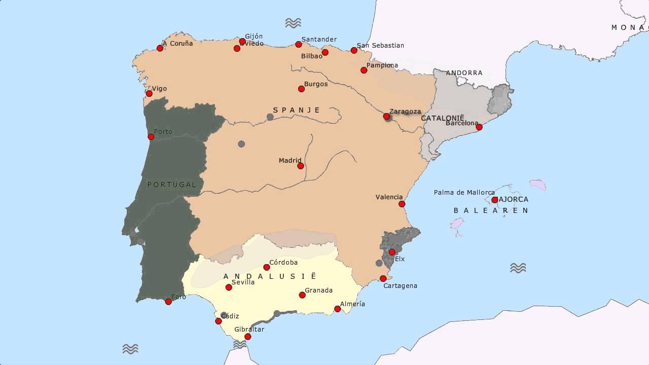 Topografie Spanje En Portugal Youtube