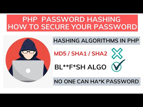 How To Secure Password In PHP | PHP Hashing & De-Hashing Algorithm In Hindi #58