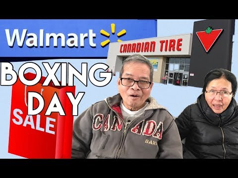 BOXING DAY SALE CANADA!! - Calgary #boxingday #walmart #canadiantire