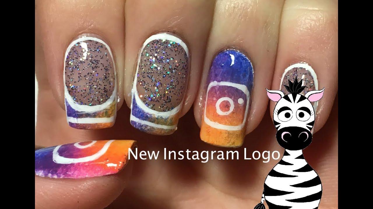 New Instagram Logo Nail Art Design Tutorial Youtube