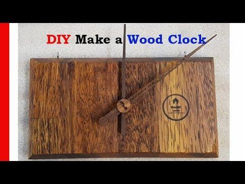 DIY Make a Wood Clock 원목 시계 만들기 멀바우 원목 구비워커  gooby worker