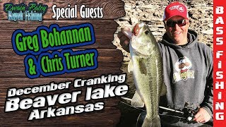 Winter Crankbait fishing for Bass on Beaver lake with FLW Pro Greg Bohannan