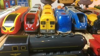 HD compilation 20 different BRIO Wooden Toy trains and locomotives (03870 z)
