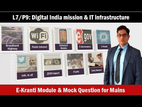 L7/P9: IT infrastructure: Digital India Mission, E-Kranti, Digital Divide-India vs. Bharat