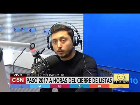Duplex con Radio 10: A horas del cierre de listas de las PASO