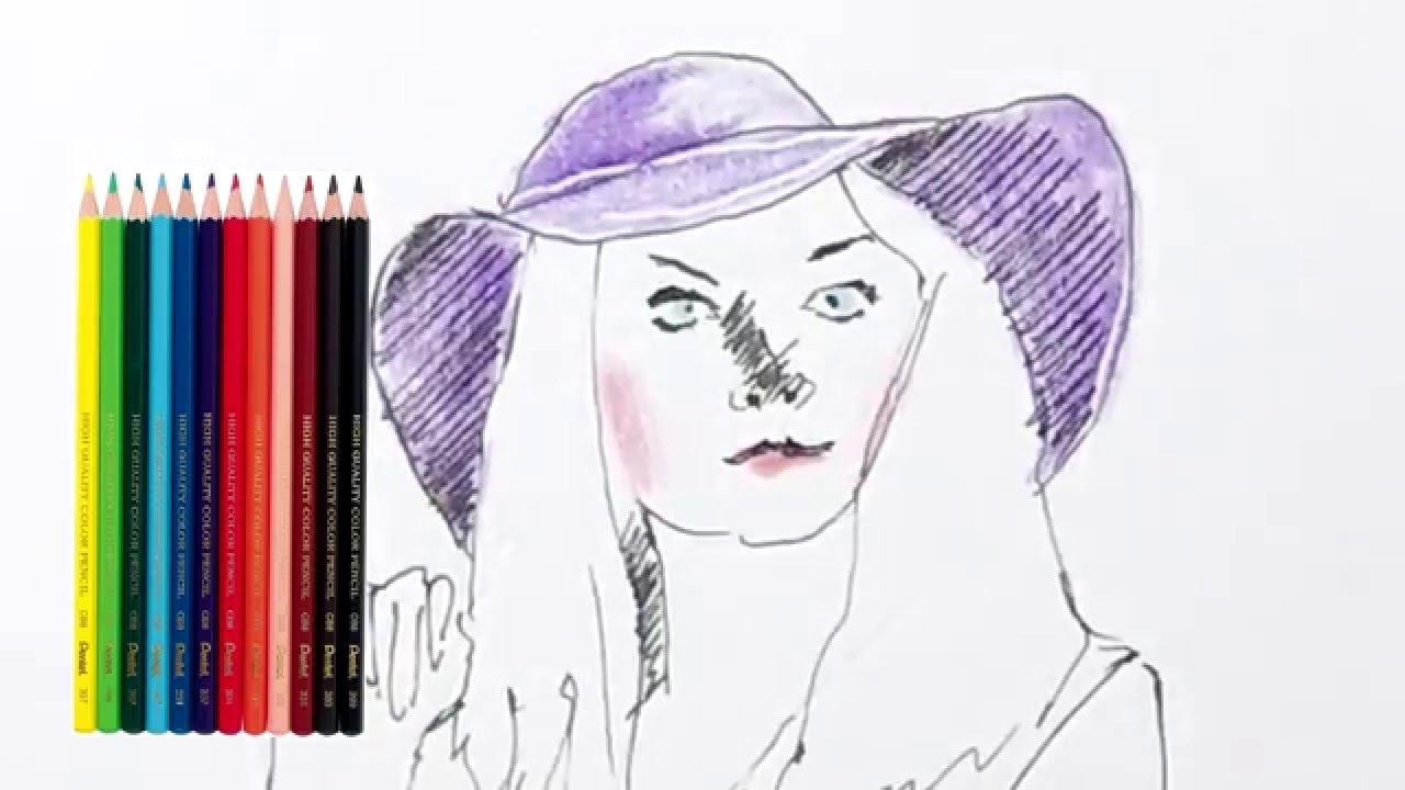 How to Draw Fashion Outfit (Classic Hat) как Рисовать|девушки карандашом мода