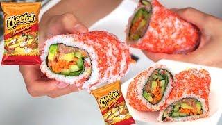 THE BEST HOT CHEETOS SUSHI BURRITO!!!! Recipe