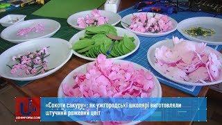 «Сокоти сакуру»: як ужгородські школярі виготовляли штучний рожевий цвіт