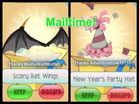 Animal jam mailtime party hat scary bat wings youtube - How to get a bat on animal jam ...