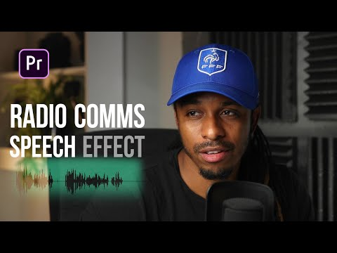 How to create radio communications effect in premiere pro - Tutorial