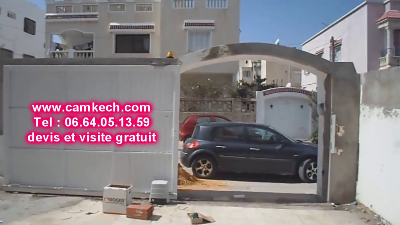 Porte garage automatique lectrique maroc youtube for Porte automatique garage prix