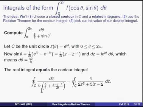 Calculus of Residua - Complex Functions Theory a-2