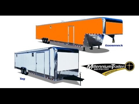 Enclosed Trailers - Gooseneck Enclosed Trailers - With Living Quarters