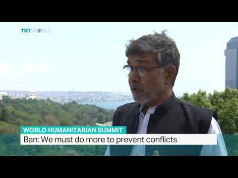 Interview with Nobel Peace Prize Winner Kailash Satyarthi on World Humanitarian Summit 720p