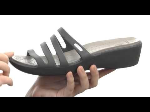 31877ffc61ba0d Crocs Rhonda Wedge Sandal SKU  8221791 - YouTube