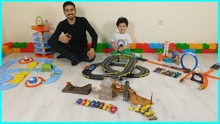 Toy Car Road Sets Challenge | Children's Play Video