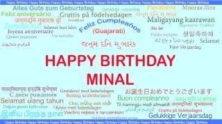 Minal   Languages Idiomas - Happy Birthday