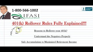 401k Rollover Rules - 401k Roll Over Rules Explained