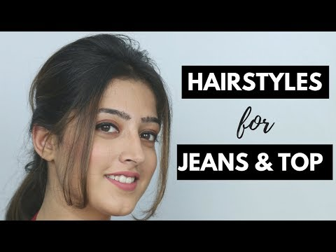2 Easy Hairstyles for Jeans and Top (Hindi)