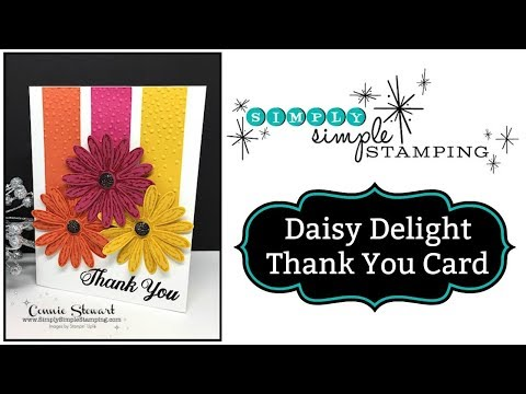 Simply Simple DAISY DELIGHT THANK YOU CARD by Connie Stewart