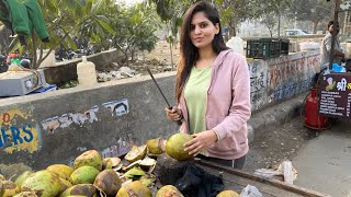 A Beautiful Girl ❤️ Opened Her Coconut ? Water Shop | Royal Shakti Vlogs |