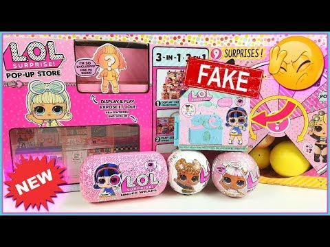LOL Surprise UNDER WRAPS POP UP Store * TIENDA lol surprise serie 4 * LOL surprise fake. Glitter!!