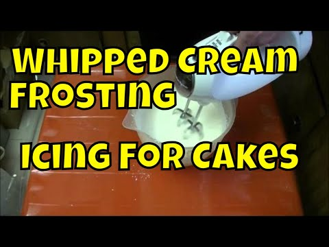 How To Make Whipped Cream Icing Frosting Real Time   Chox Decorates #18