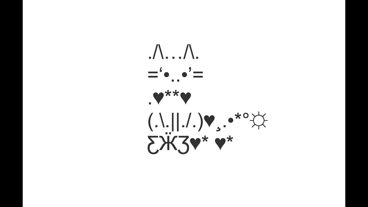 Cute Sitting Cat Copy And Paste Text Art Youtube