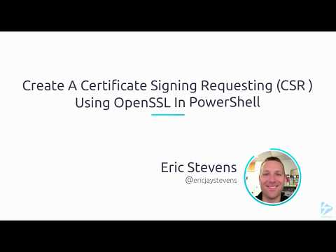 Create A Certificate Signing Requesting (CSR ) Using OpenSSL