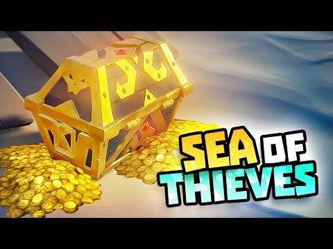 FINDING TREASURE CHESTS & LOST ISLANDS - Sea of Thieves Closed Beta Gameplay
