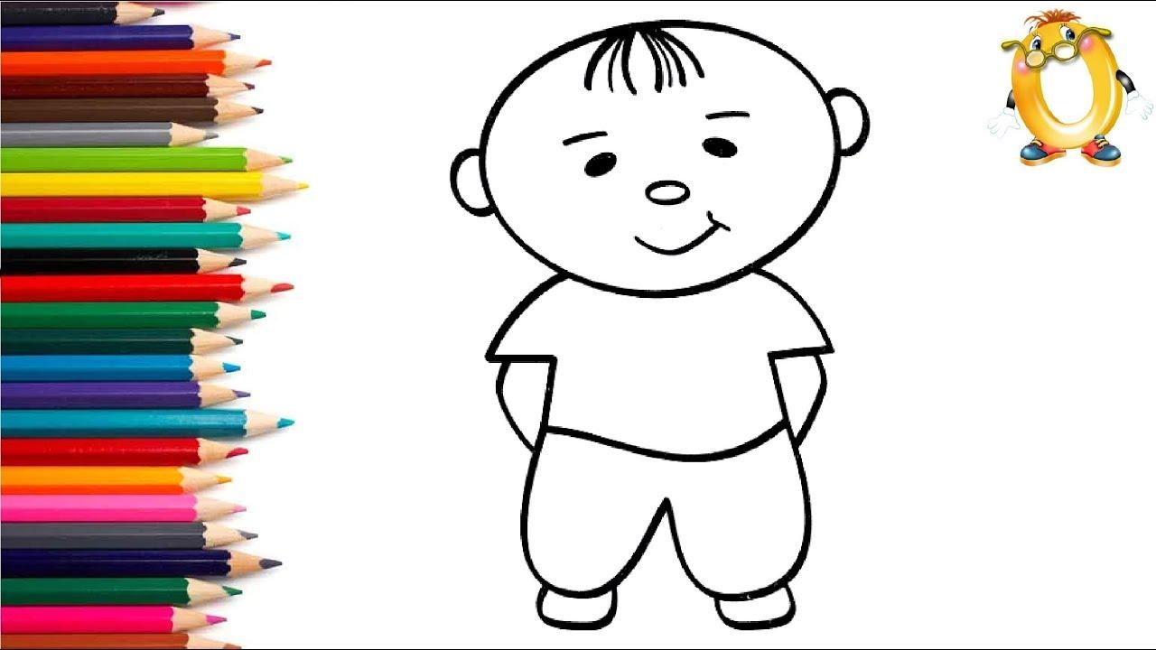 Раскраска для детей РЕБЁНОК. Мультик - Раскраска. Учим ...
