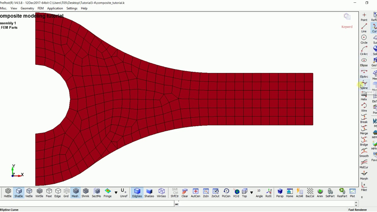 LS-PrePost_Web-Tutorial 3-4 :Creating a composite laminate with dropped  layer