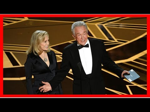 Warren Beatty & Faye Dunaway Finally Get Best Picture Right at 2018 Oscars