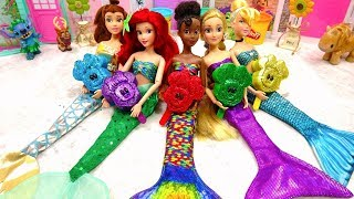 Play Doh Mermaid Disney Princess Mickey Mouse Surprise Toys Learn Colors with Nursery Rhymes