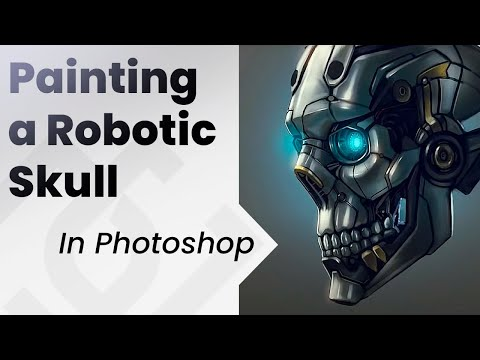 How to paint in photoshop _ Robotic Skull
