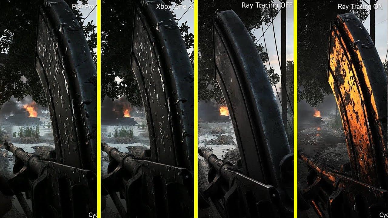 Battlefield V - PS4 Pro vs Xbox One X vs RTX On / Off ...