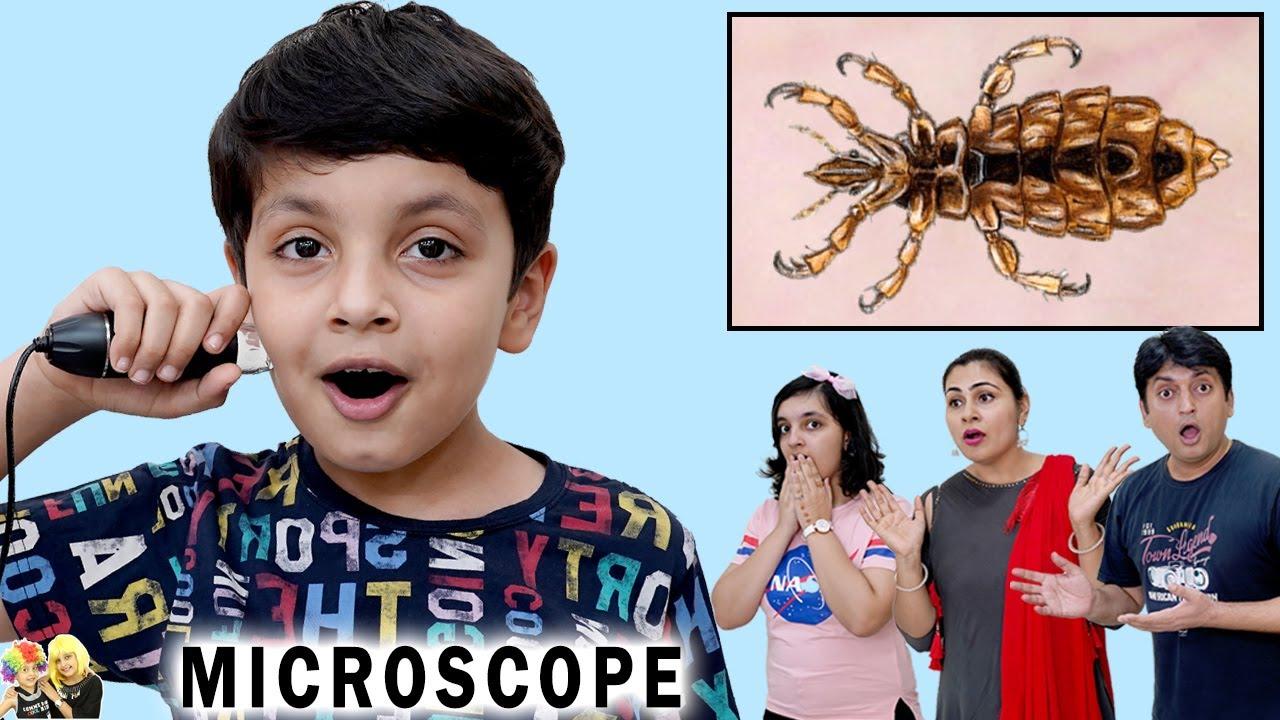 MICROSCOPE CHALLENGE | Comedy Family Challenge | Aayu and Pihu Show