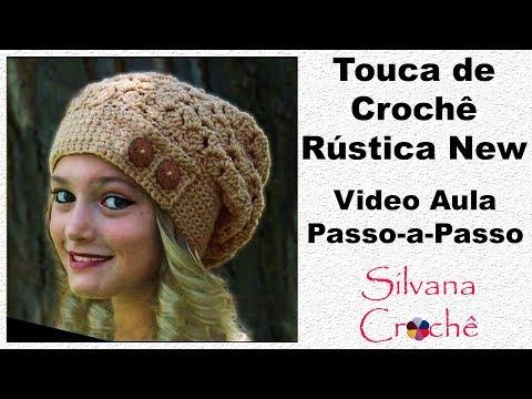 Touca de Crochê Rústica New Passo-a-Passo