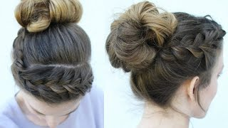 Messy Bun and Braided Headband style | Braided Hairstyles | Braidsandstyles12