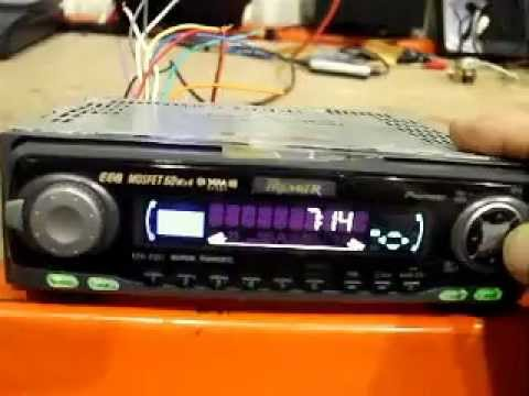 How To Set A Pioneer Car Stereo Clock Time