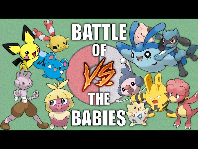 Battle of the Babies - Pokemon Battle Revolution (1080p 60fps)