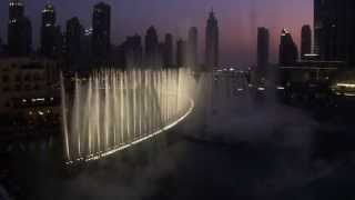 Dubai Fountain Water and Light Show 2013-06 at Burj Khalifa (in HD 720p)