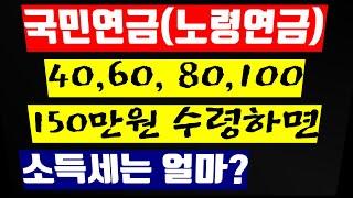 28. 쥐꼬리 국민연금에 소득세를 과연 얼마나 떼갈까?…