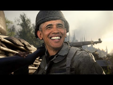 President Barack Obama Plays COD WW2! (Voice Troll)