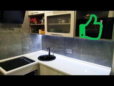 Кухонный фартук из керамогранита своими руками.