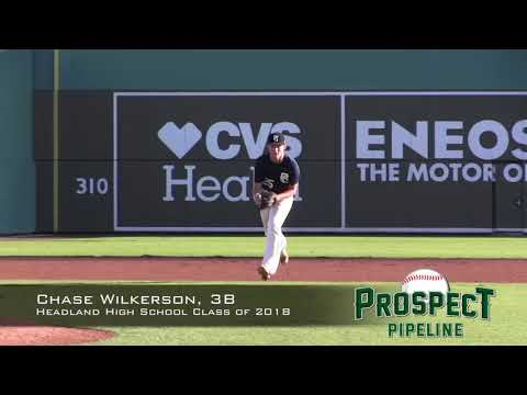 Chase Wilkerson prospect video, 3B, Headland High School Class of 2018