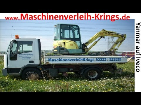 yanmar bagger iveco lkw abladen www weilerswist maschinenverleih bonn. Black Bedroom Furniture Sets. Home Design Ideas