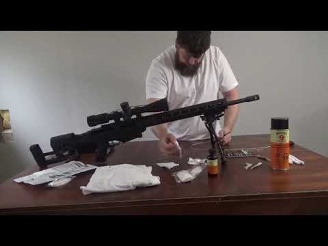 3 of 3 Ruger Bolt Action rifle bore cleaning with Range Maxx universal cleaning kit